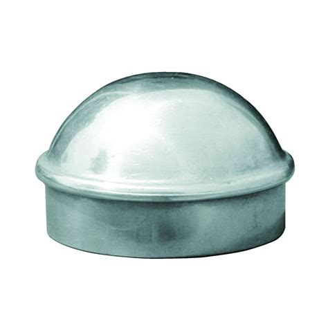 1 galvanized cap yardgard 1 5 8 in galvanized aluminum plain dome post cap