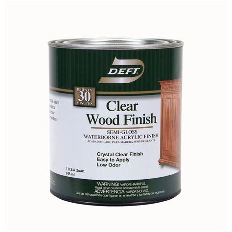 deft 1 qt semi gloss interior clear wood finish waterborne acrylic 10804 the home depot