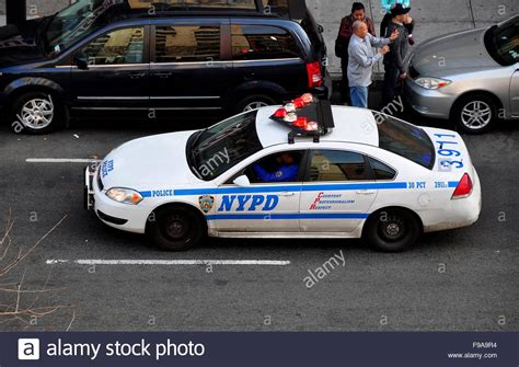 white car lights york city nypd car with and white