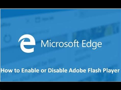 how to disable flash player in microsoft edge