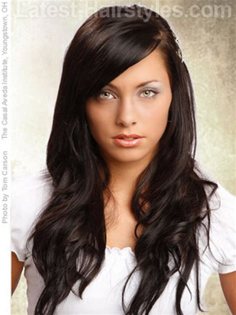hairstyles with bangs for long thick hair cute haircuts for long thick hair