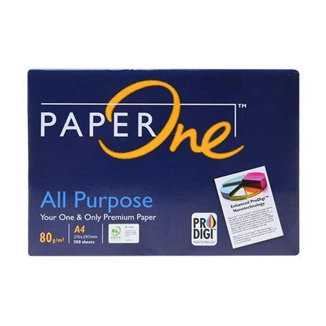 Kertas Print Fotocopy A4 80 Gsm jual paper one kertas hvs a4 80 gsm 1 harga kualitas terjamin blibli