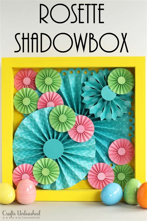 diy spring projects diy rosette shadowbox step by step crafts unleashed