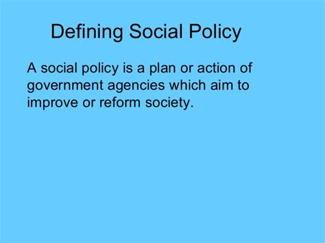 Social Policy Essays by Social Policy Essay