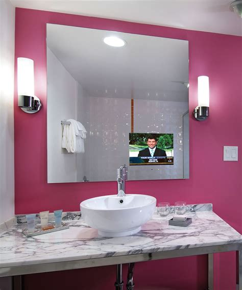 bathroom tv ideas loft bathroom mirror tv electric mirror 174