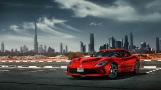 Car In Dubai Wallpaper Hd Wallpaper Dodge Viper Roadster Dubai Desert