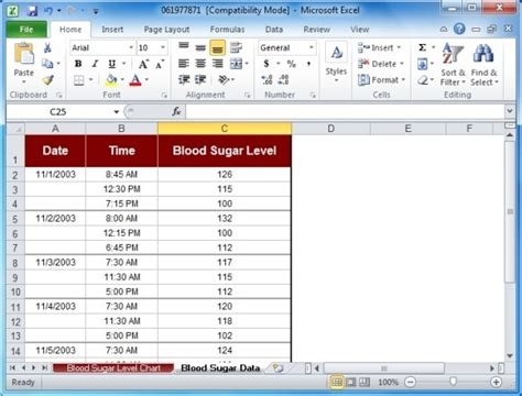 blood sugar chart template blood sugar tracker template for excel powerpoint