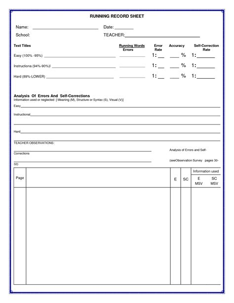 anecdotal assessment template student anecdotal records template pdf