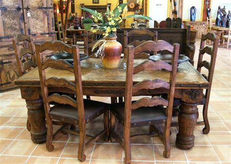 Mexican Dining Room Sets by Mexican Pine Dining Table And Chairs Stocktonandco