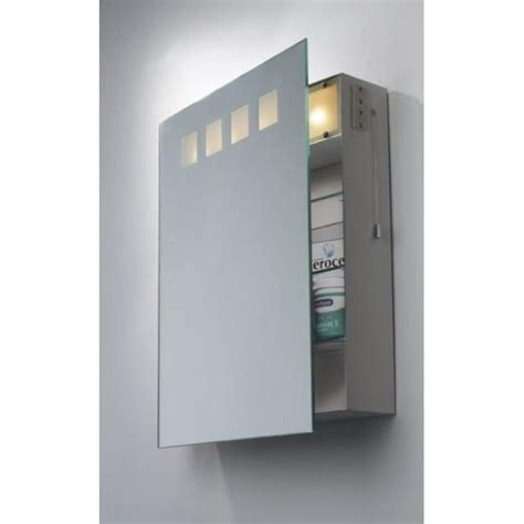 bathroom mirror cabinet with shaver socket dar lighting zeus illuminated bathroom mirror cabinet with