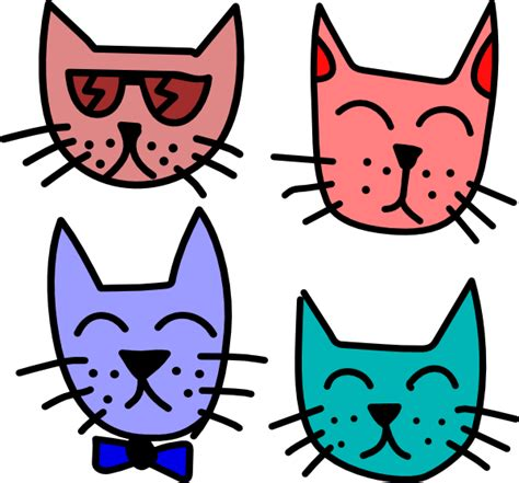 cat clipart graffiti cats clip at clker vector clip