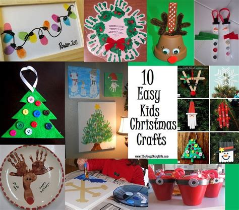 10 easy kids christmas crafts by the frugal navy wife
