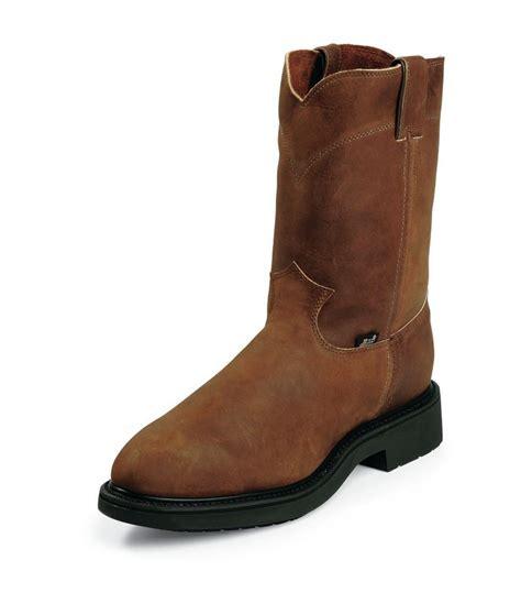 justin double comfort boots justin original double comfort 4764 mens aged bark steel