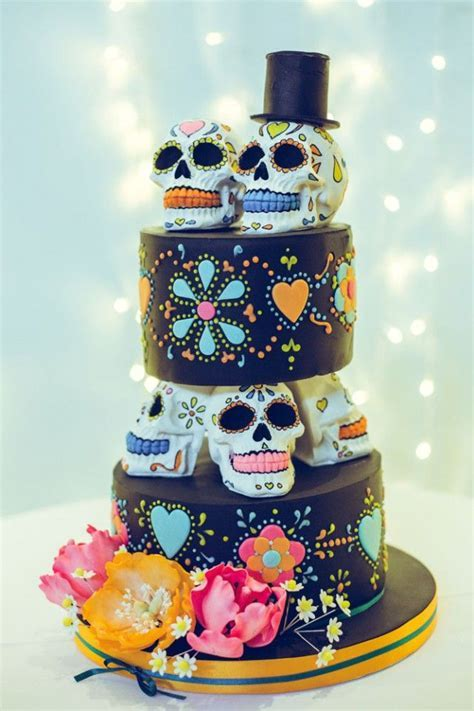 801 best images about Day of the Dead Wedding cakes and