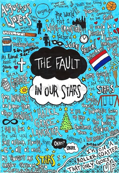 quot the fault in our stars collage quot posters by jacob anderson