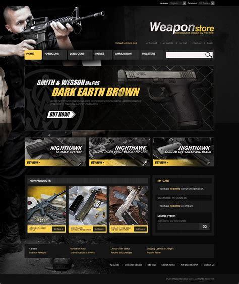 Gun Shop Magento Theme Web Design Templates Website Templates Download Gun Shop Magento Gun Shop Website Template