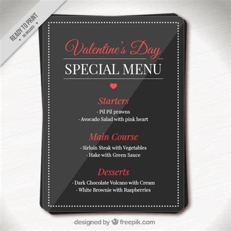 Valentine Day Elegant Special Menu Template Vector Free Download Specials Menu Template Free