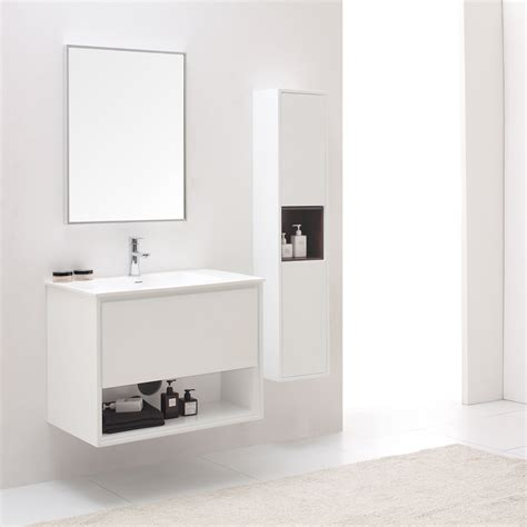 white bathroom vanity set sonoma glossy white bathroom vanity set with white stone top zuri furniture
