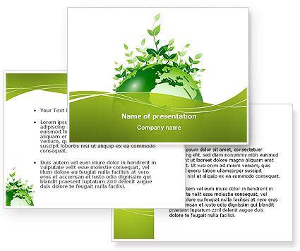 green environment powerpoint template poweredtemplate