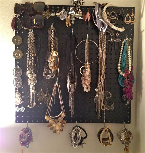 make your own jewelry display make your own pegboard jewelry display homesfeed