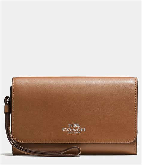 Clucth Coach coach boxed phone clutch in calf leather lyst