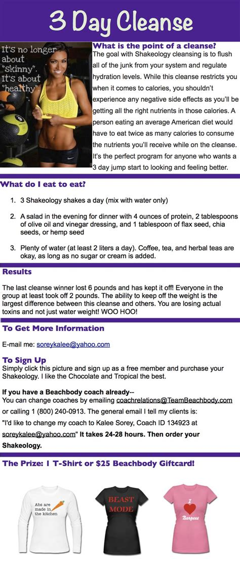 7 Day Detox Beachbody by 155 Best Beachbody 3 Day Refresh Images On