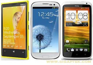 Hp Nokia Lumia Tercanggih harga hp adu nokia lumia 920 vs samsung galaxy s3 vs htc one x siapa jagoannya harga
