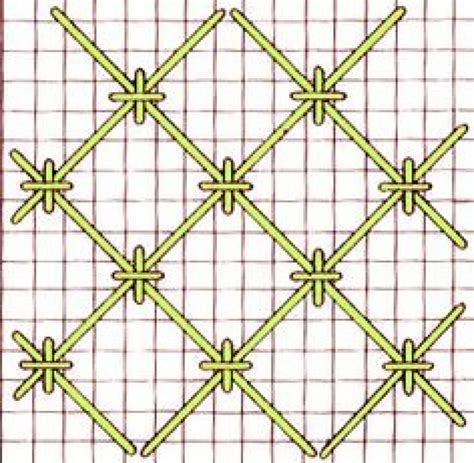 cross stitch couching jacobean couching