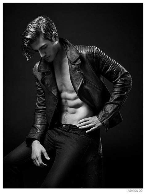 tbm boy model popular photography justin hopwood poses in leather for new photos by ashton