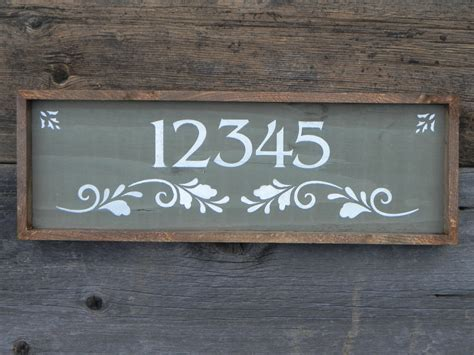 Handmade Sign - custom and personalized address sign handmade signs outdoor