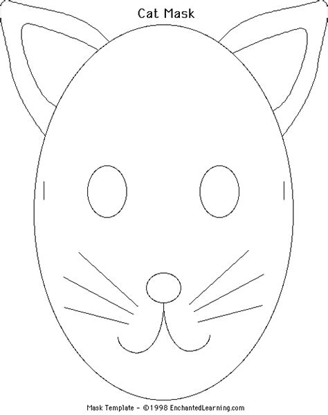 cat mask template make a cat mask enchanted learning software