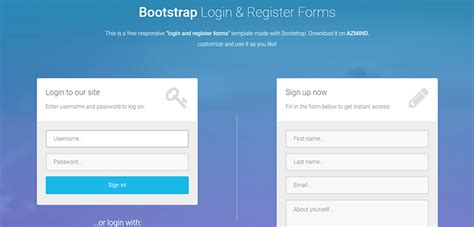bootstrap templates for login page bootstrap login and register form bootstrap themes