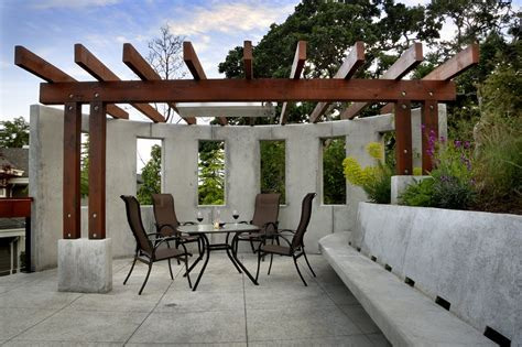 modern home design victoria bc veranda outdoor dining exposed concrete modern home in