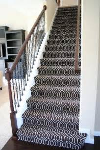 Different Color Carpet On Stairs by Geometric Stair Carpet Chocolate Tessio Carpet My House