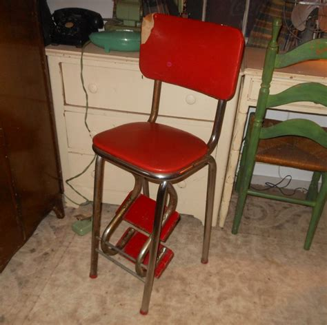 vintage kitchen stools with steps vintage kitchen stool with folding steps collectors weekly