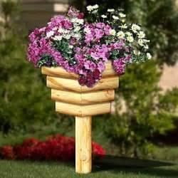 Landscape Timber Basket Planter Plans Free 11 2262 Landscape Timbers Basket Planters Woodworking