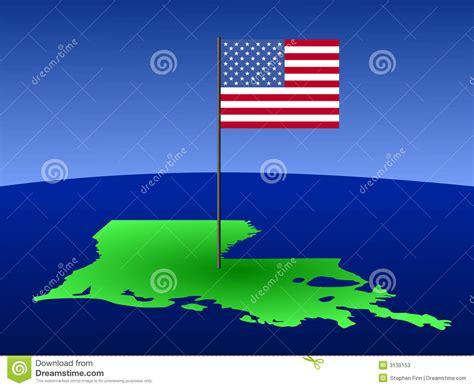 louisiana map flag map of louisiana with flag stock photos image 3139153