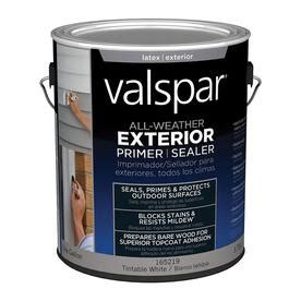 shop valspar 1 gallon exterior primer at lowes