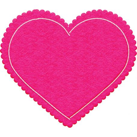 all about hearts 2017: felt heart 01, dark pink graphic by