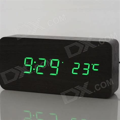 desk alarm clock cool wooden desk alarm clock w temperature display