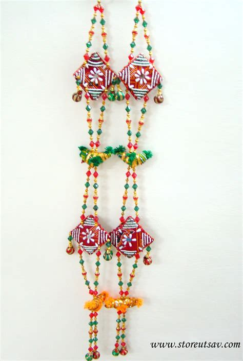 home decor hanging beads wall hanging door hanging gujarati of birds beads red
