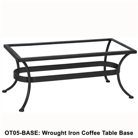 Wrought Iron Coffee Table Base Ow Standard Wrought Iron Rectangular Coffee Table Base Ot05 Base