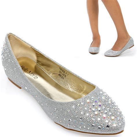 silver flat shoes for wedding silver pointy toe wedding bridal low wedge