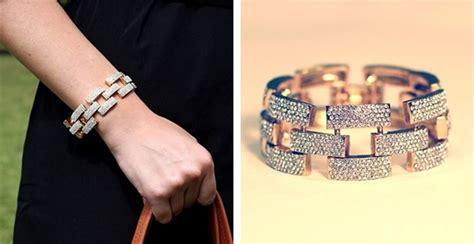 Blowout Gold Square Pave Link Bracelet   Jane