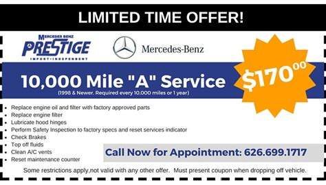Mercedes Coupon by Bmw Mercedes Repair Discounts Prestige Mercedes