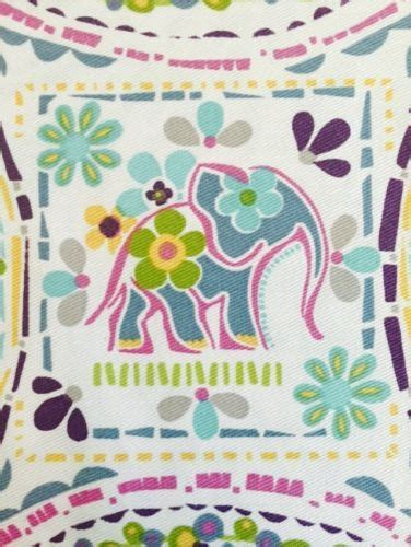 Cynthia Rowley Elephant Quilt by Cynthia Rowley Shower Curtain Coral Ombre Floating Flowers