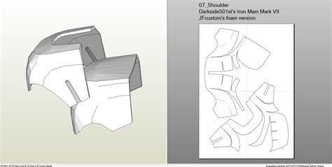 iron foam armor templates foamcraft pdo file template for iron 7