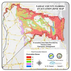 map of nassau county florida nassau county official website your evacuation zone