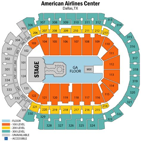 american airlines center seating chart rows american airlines center seating chart with rows