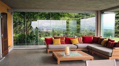 terrazze chiuse con vetrate chiusure di verande terrazzi balconi gazebo giardini d